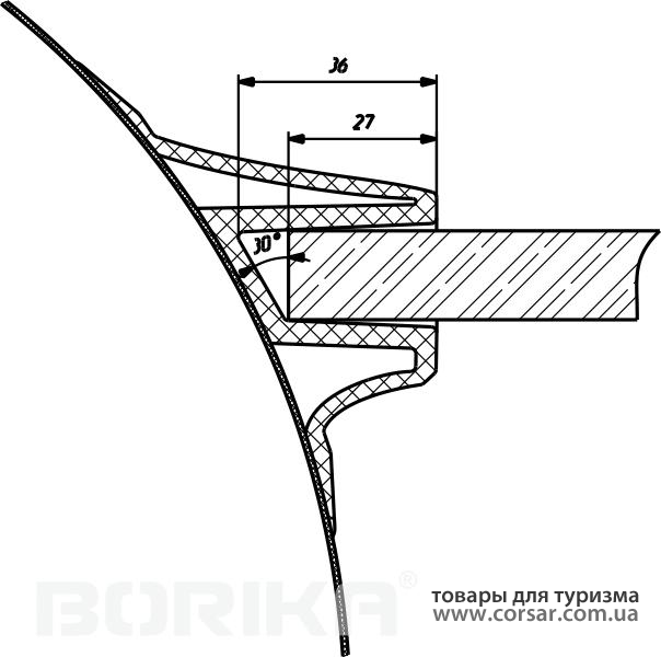 Опора сидения Borika глубокая 10.03