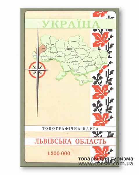 Карта Львовской области
