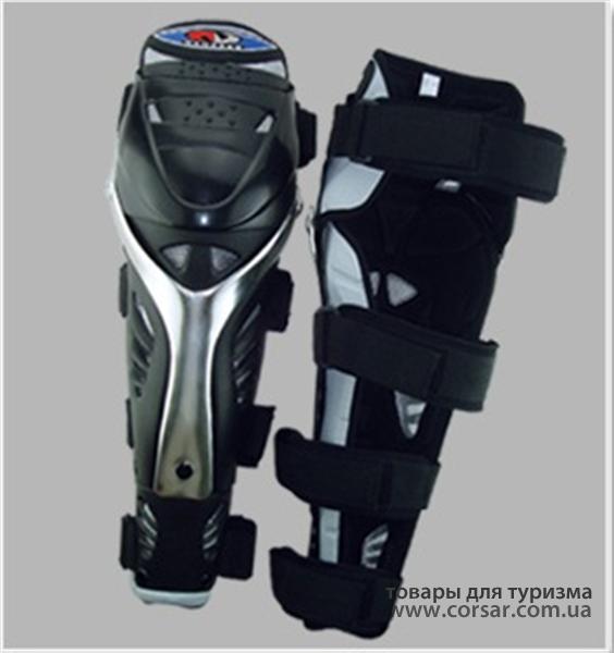 Защита колена VEGA NM-613K длинная хром